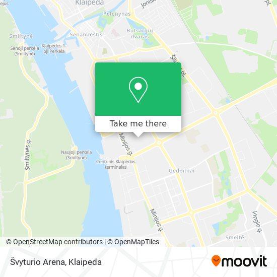 Švyturio Arena map