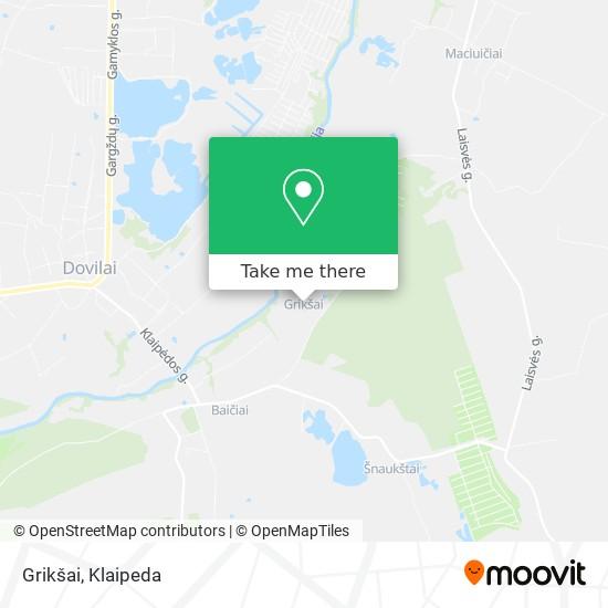 Grikšai map