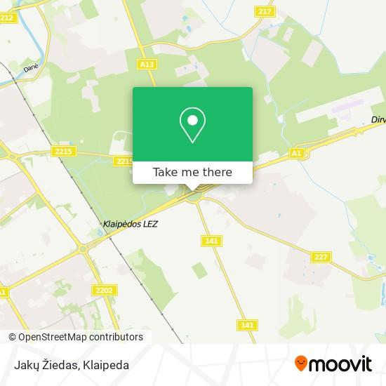 Jakų Žiedas map