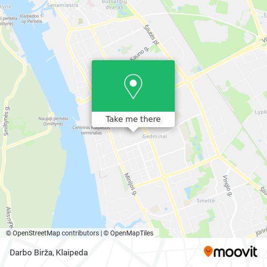 Darbo Birža map