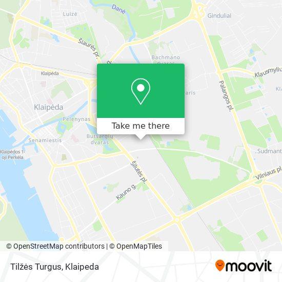 Tilžės Turgus map