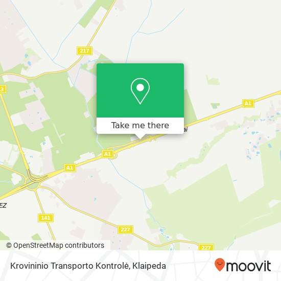 Krovininio Transporto Kontrolė map