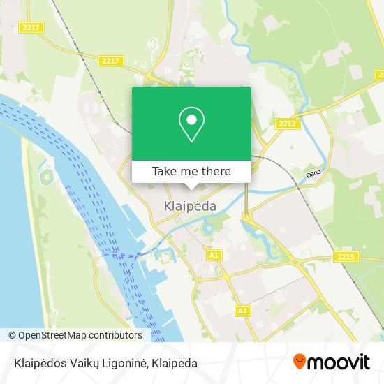 Klaipėdos Vaikų Ligoninė map