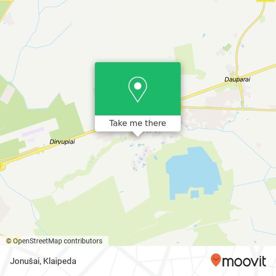 Jonušai map