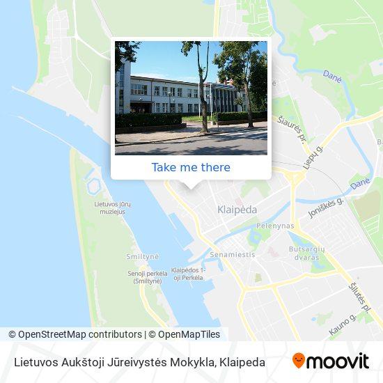 Lietuvos Aukštoji Jūreivystės Mokykla map