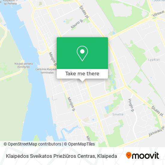Klaipėdos Sveikatos Priežiūros Centras map