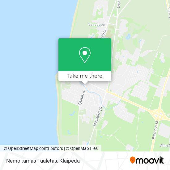 Nemokamas Tualetas map