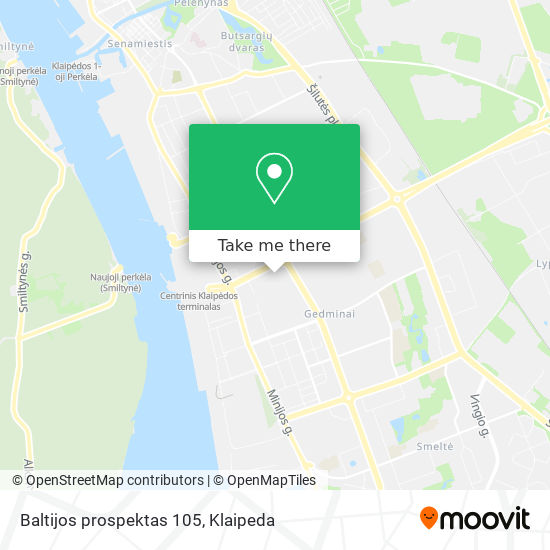 Baltijos prospektas 105 map