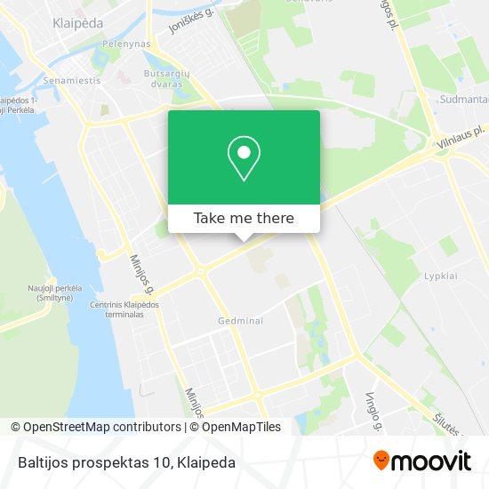 Baltijos prospektas 10 map