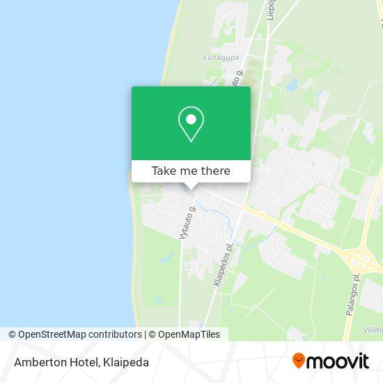 Amberton Hotel map