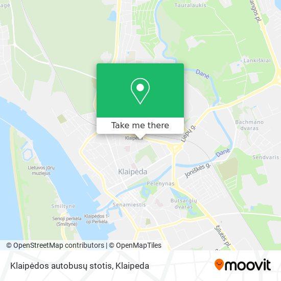Klaipėdos autobusų stotis map