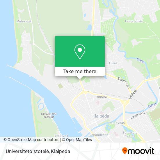 Universiteto stotelė map