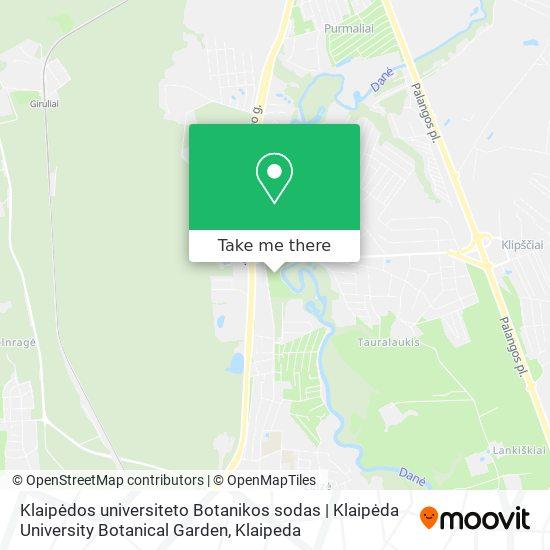 Klaipėdos universiteto Botanikos sodas | Klaipėda University Botanical Garden map