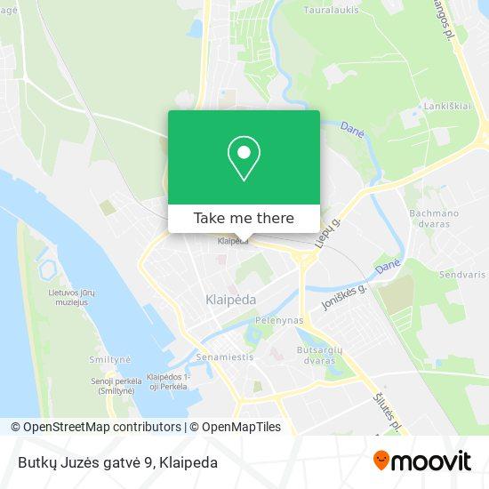 Butkų Juzės gatvė 9 map