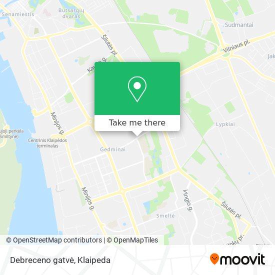 Debreceno gatvė map