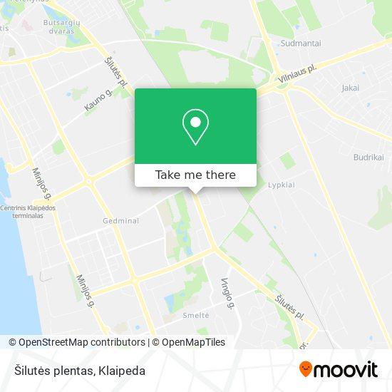 Šilutės plentas map