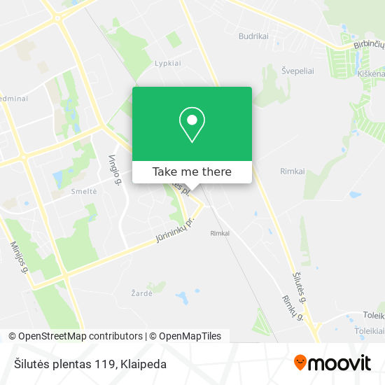 Šilutės plentas 119 map