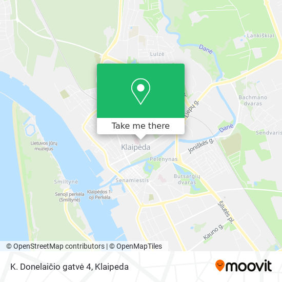 K. Donelaičio gatvė 4 map