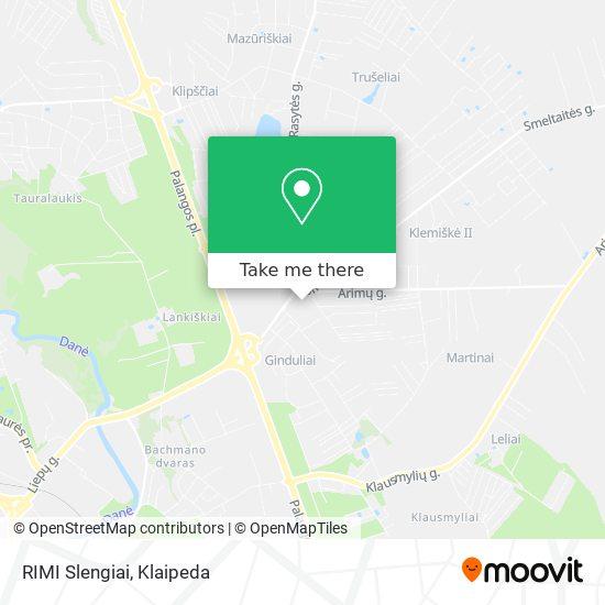RIMI Slengiai map