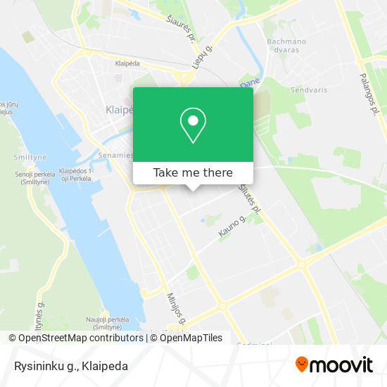 Rysininku g. map