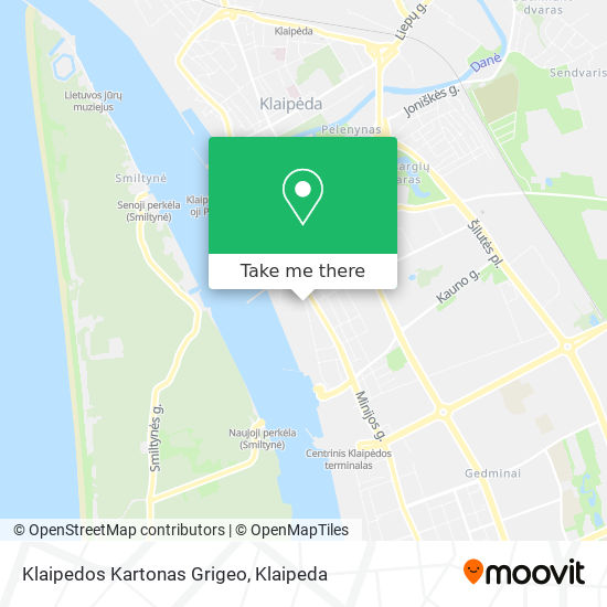 Klaipedos Kartonas Grigeo map