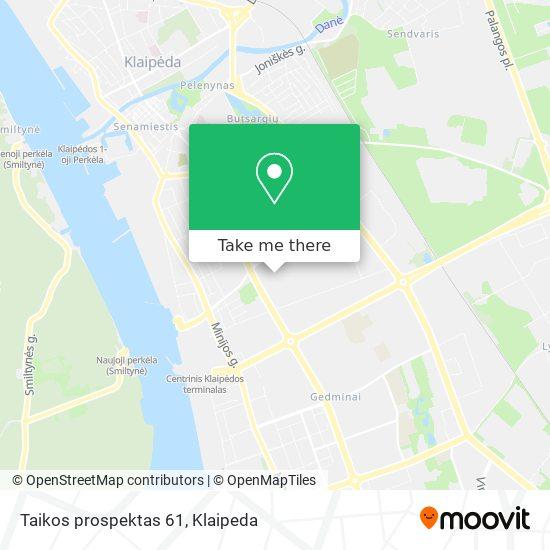 Taikos prospektas 61 map