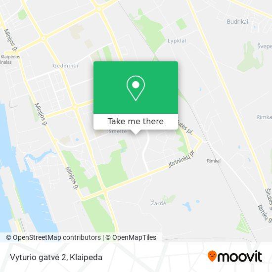 Vyturio gatvė 2 map