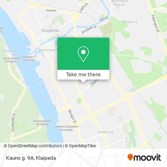 Kauno g. 9A map