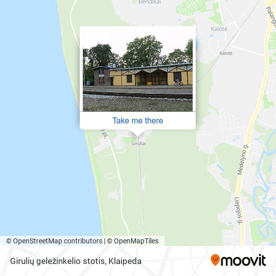 Girulių geležinkelio stotis map