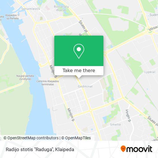 "Radijo stotis ""Raduga"" map"