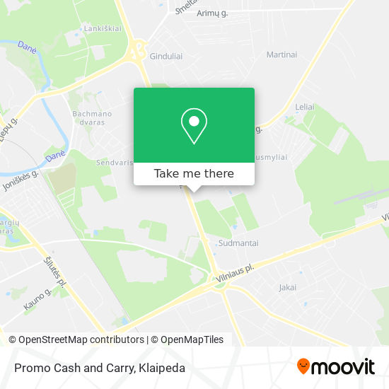 Promo Cash and Carry map