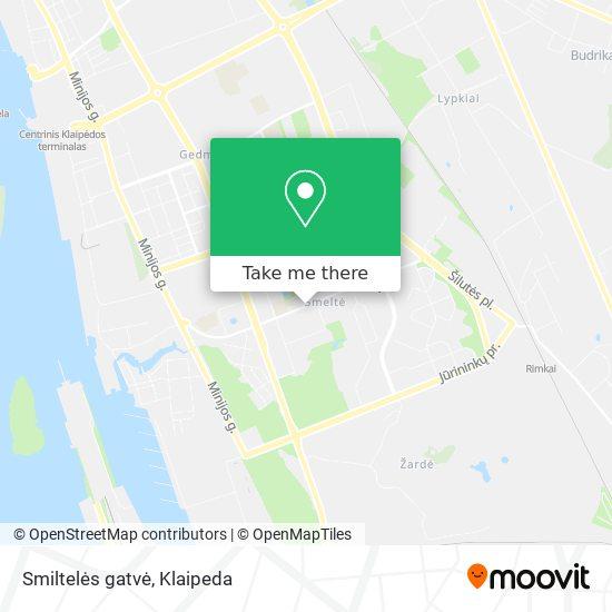 Smiltelės gatvė map