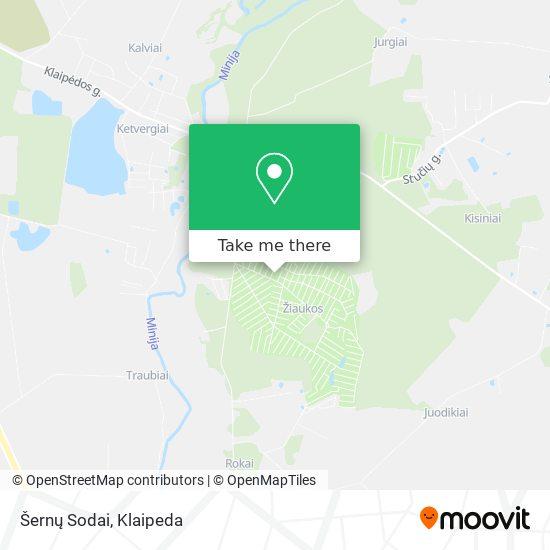 Šernų Sodai map
