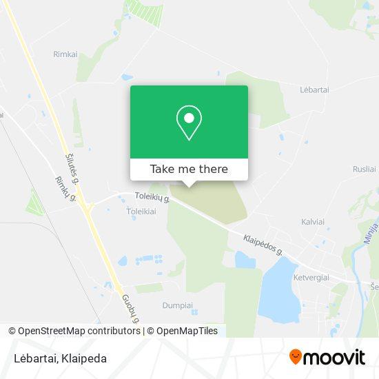 Lėbartai map