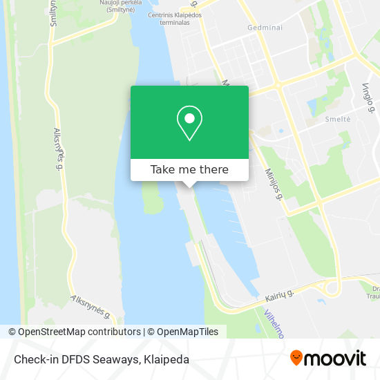 Check-in DFDS Seaways map