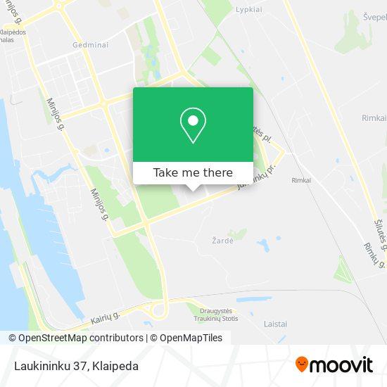 Laukininku 37 map
