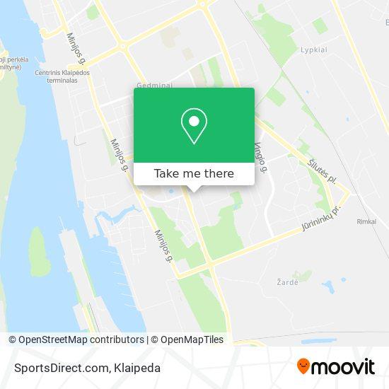 SportsDirect.com map