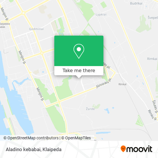 Aladino kebabai map