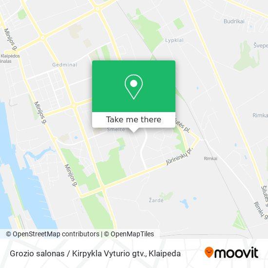 Grozio salonas / Kirpykla Vyturio gtv. map