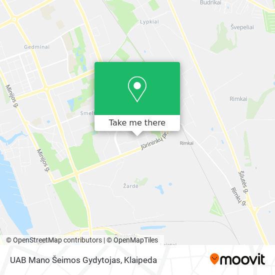 UAB Mano Šeimos Gydytojas map
