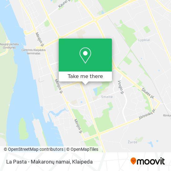 La Pasta - Makaronų namai map