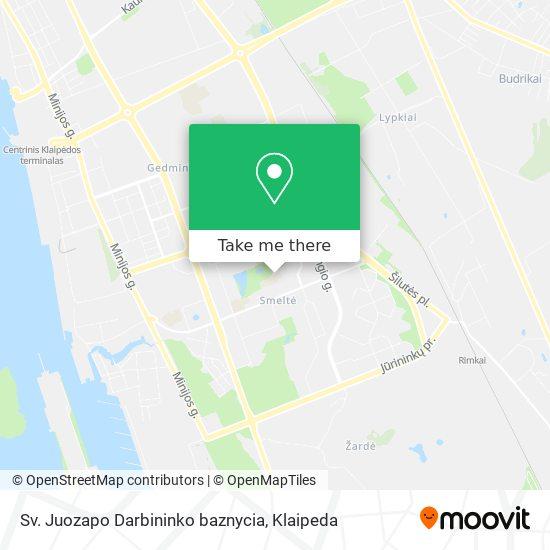 Sv. Juozapo Darbininko baznycia map