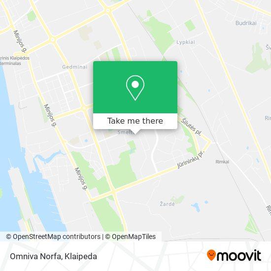 Omniva Norfa map