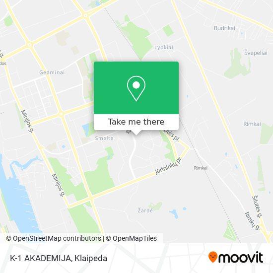 K-1 AKADEMIJA map