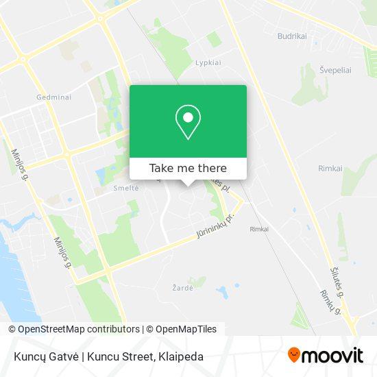 Kuncų Gatvė | Kuncu Street map