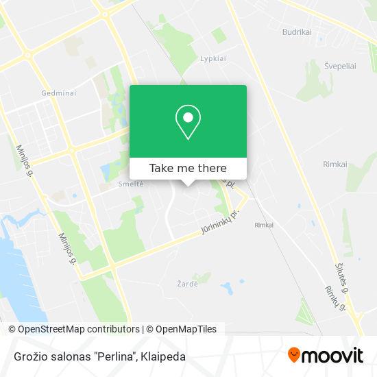 """Grožio salonas """"Perlina"""" map"""