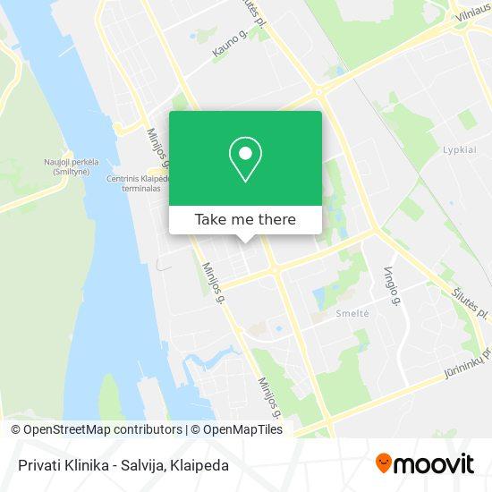 Privati Klinika - Salvija map