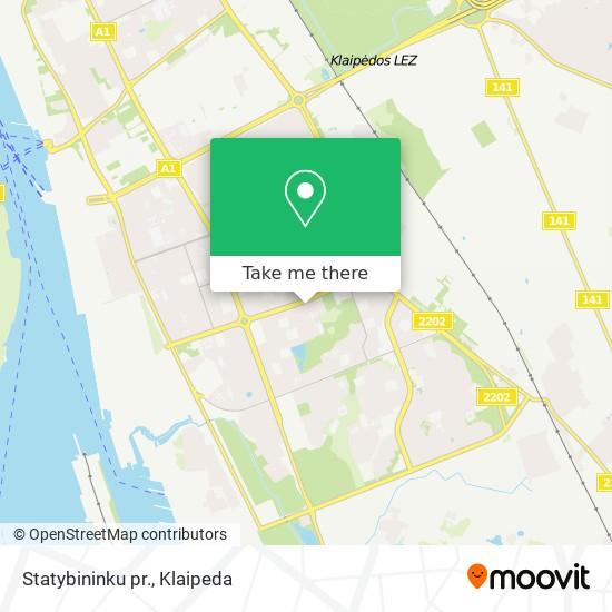 Statybininku pr. map