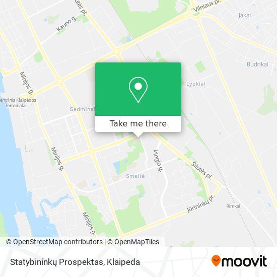 Statybininkų Prospektas map