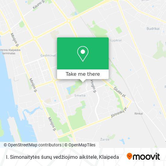 I. Simonaitytės šunų vedžiojimo aikštelė map
